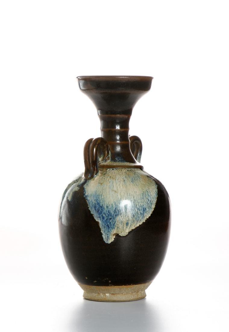 Chinese Flambe Glazed Bottle Vase - 3