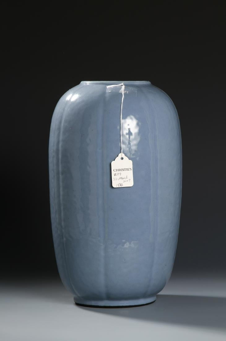 From Christie's, Chinese Pale Blue Glazed Lobed Ovoid