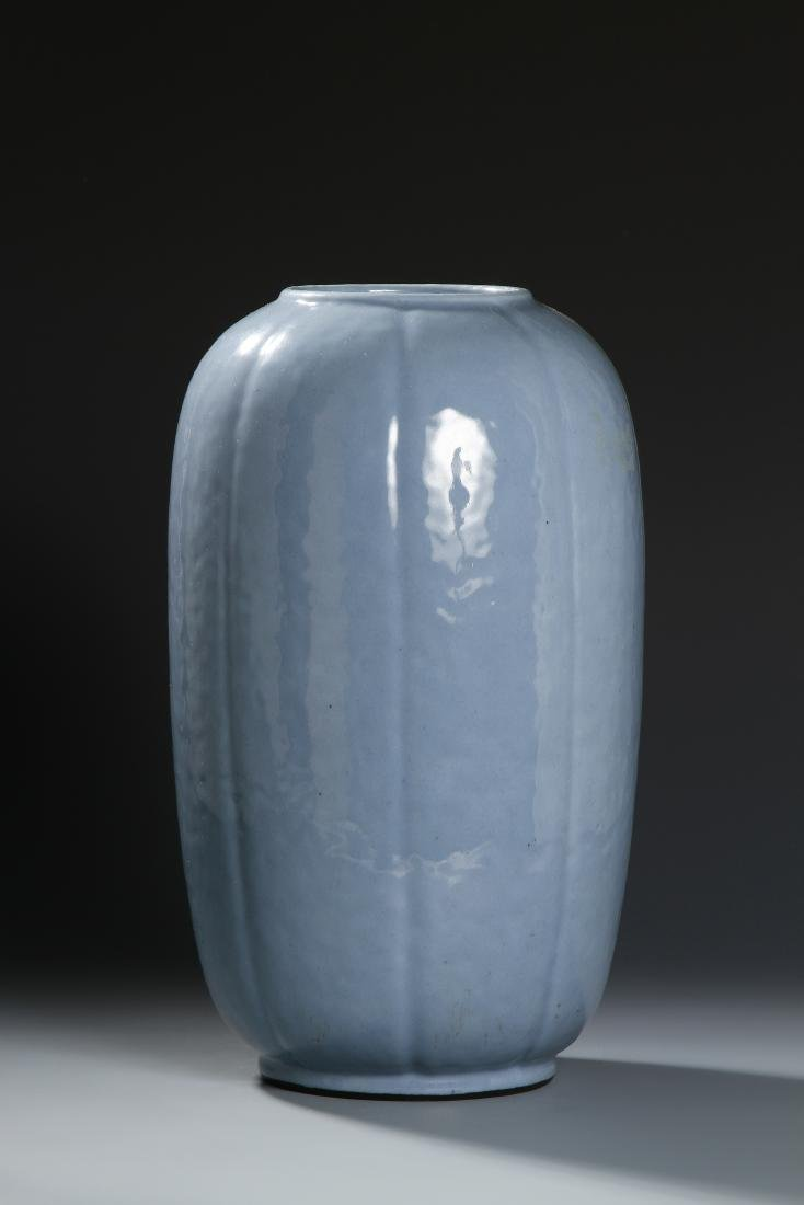 From Christie's, Chinese Pale Blue Glazed Lobed Ovoid - 2