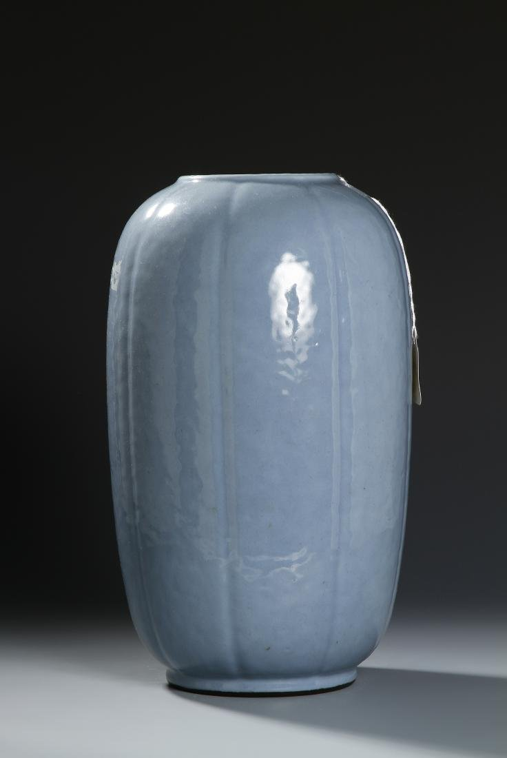 From Christie's, Chinese Pale Blue Glazed Lobed Ovoid - 3