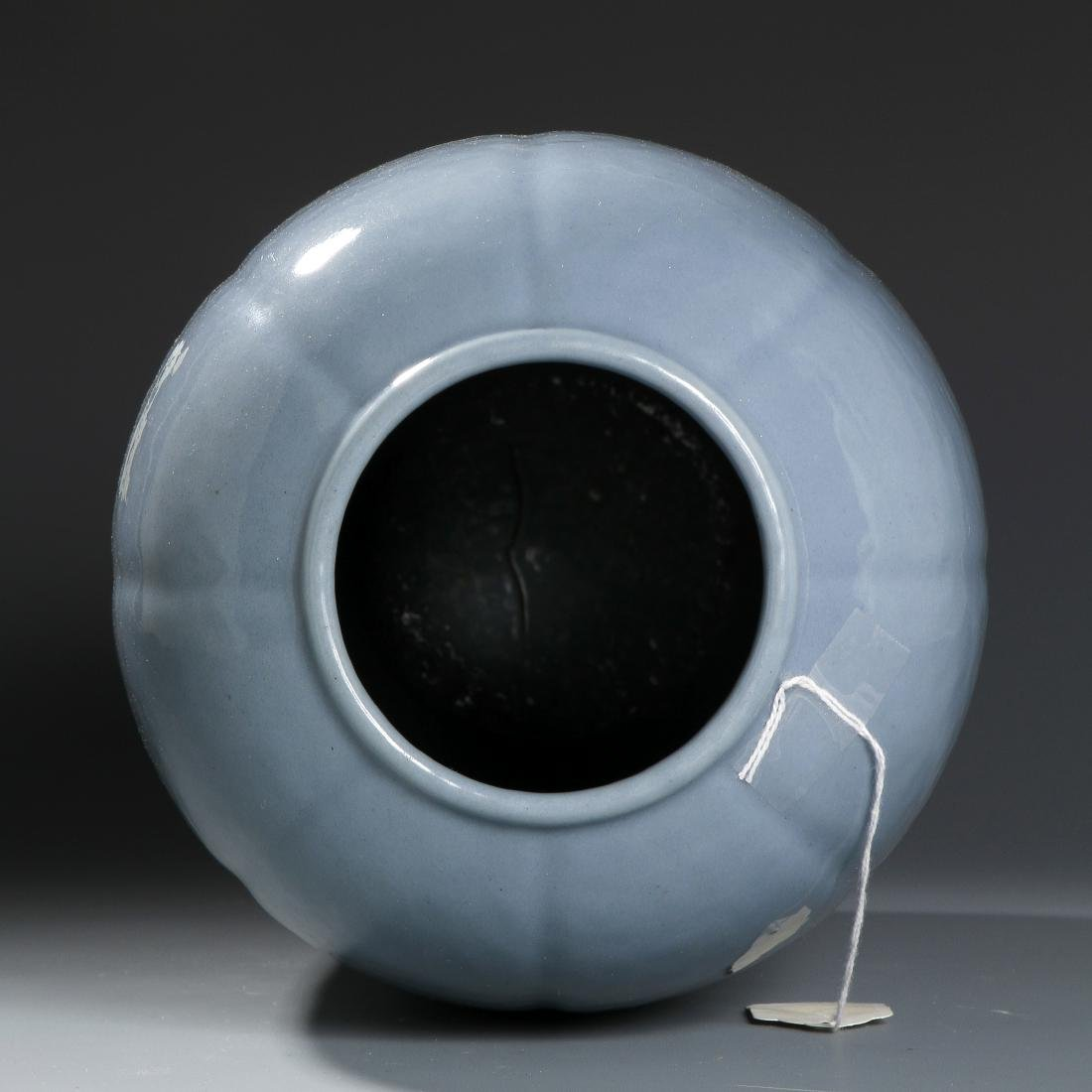From Christie's, Chinese Pale Blue Glazed Lobed Ovoid - 5