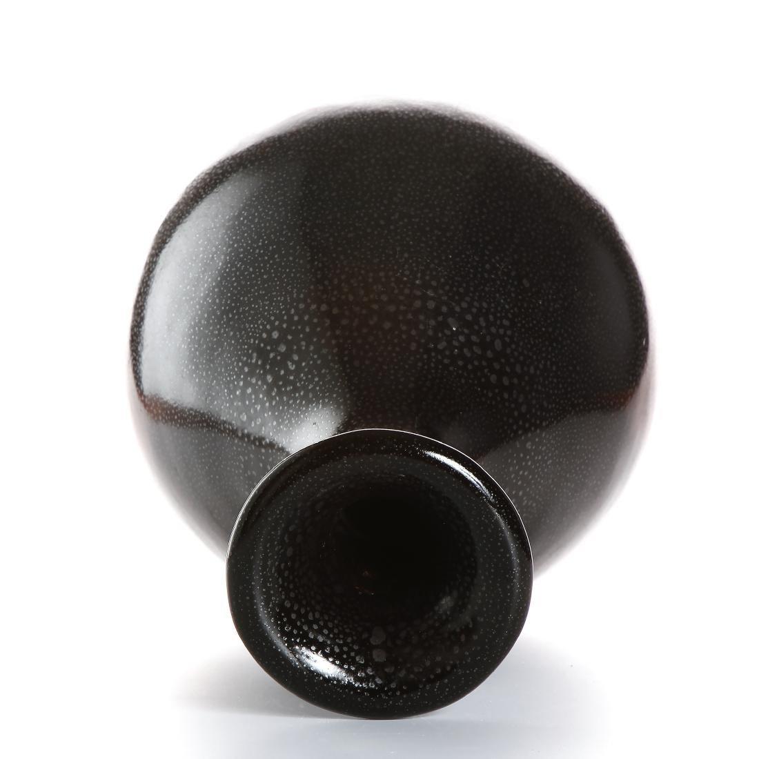 Chinese Cizhou Black Glazed 'Oil-Spot' Vase - 5
