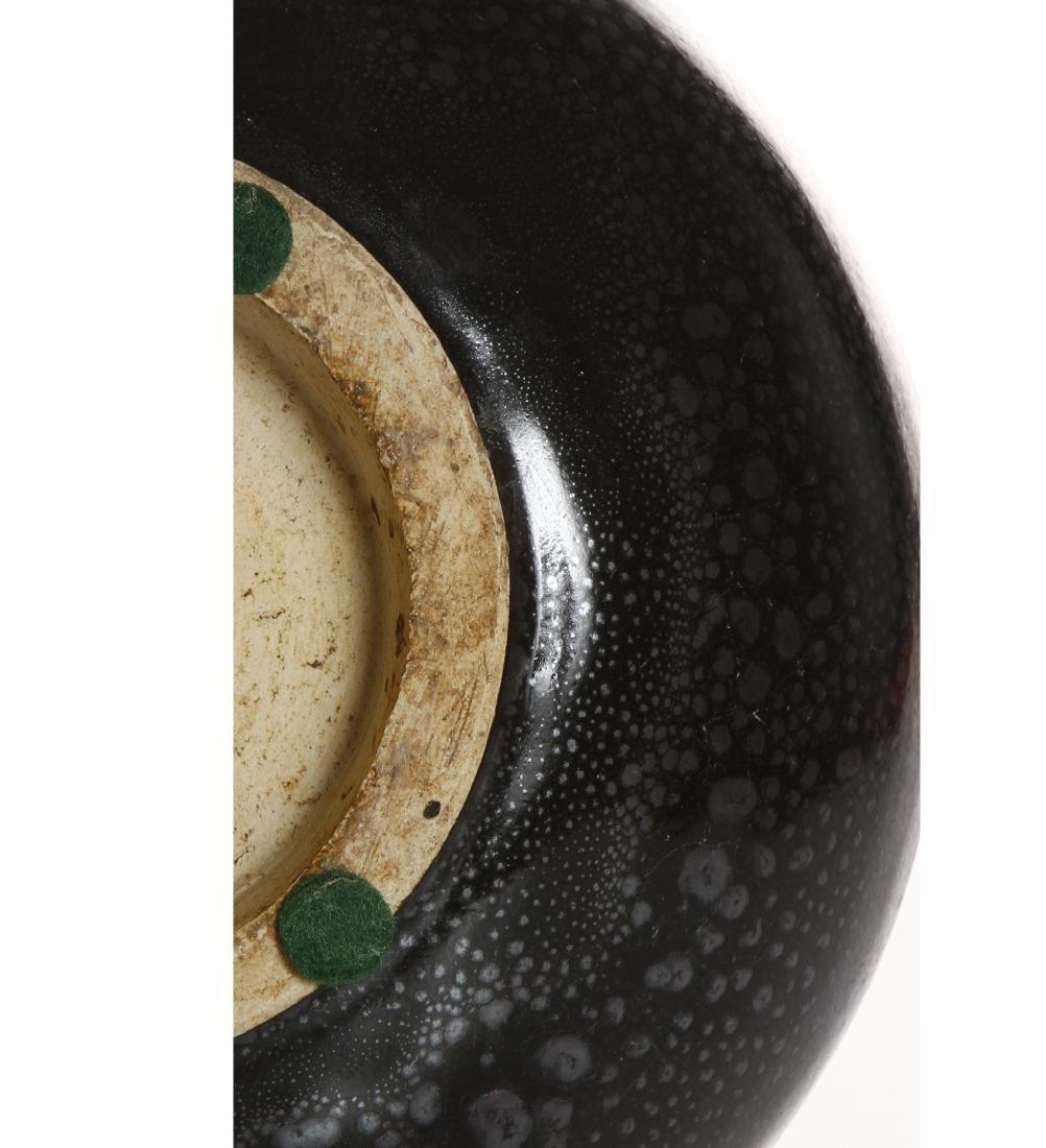Chinese Cizhou Black Glazed 'Oil-Spot' Vase - 7