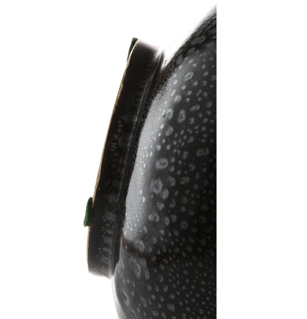 Chinese Cizhou Black Glazed 'Oil-Spot' Vase - 8
