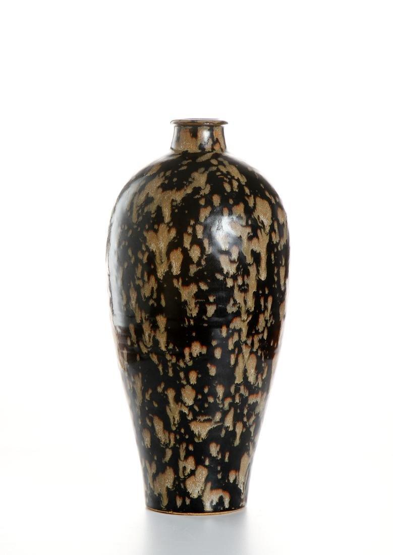 Chinese Chi-Chou 'Tortoise Shell' Glazed Meiping Vase - 2