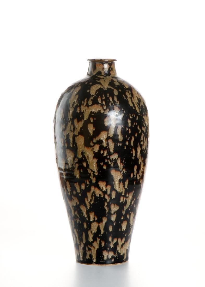 Chinese Chi-Chou 'Tortoise Shell' Glazed Meiping Vase - 5