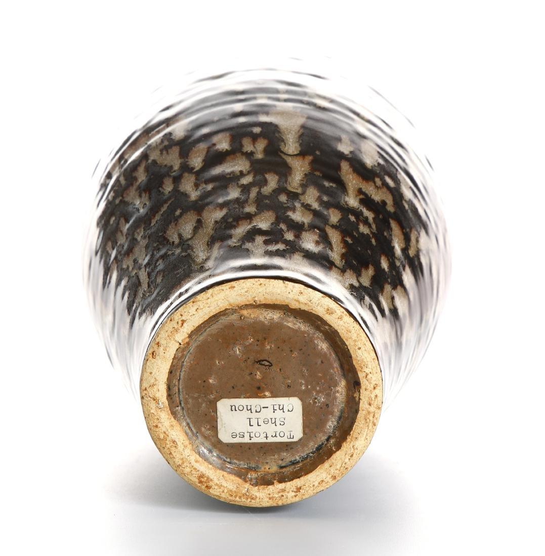 Chinese Chi-Chou 'Tortoise Shell' Glazed Meiping Vase - 9