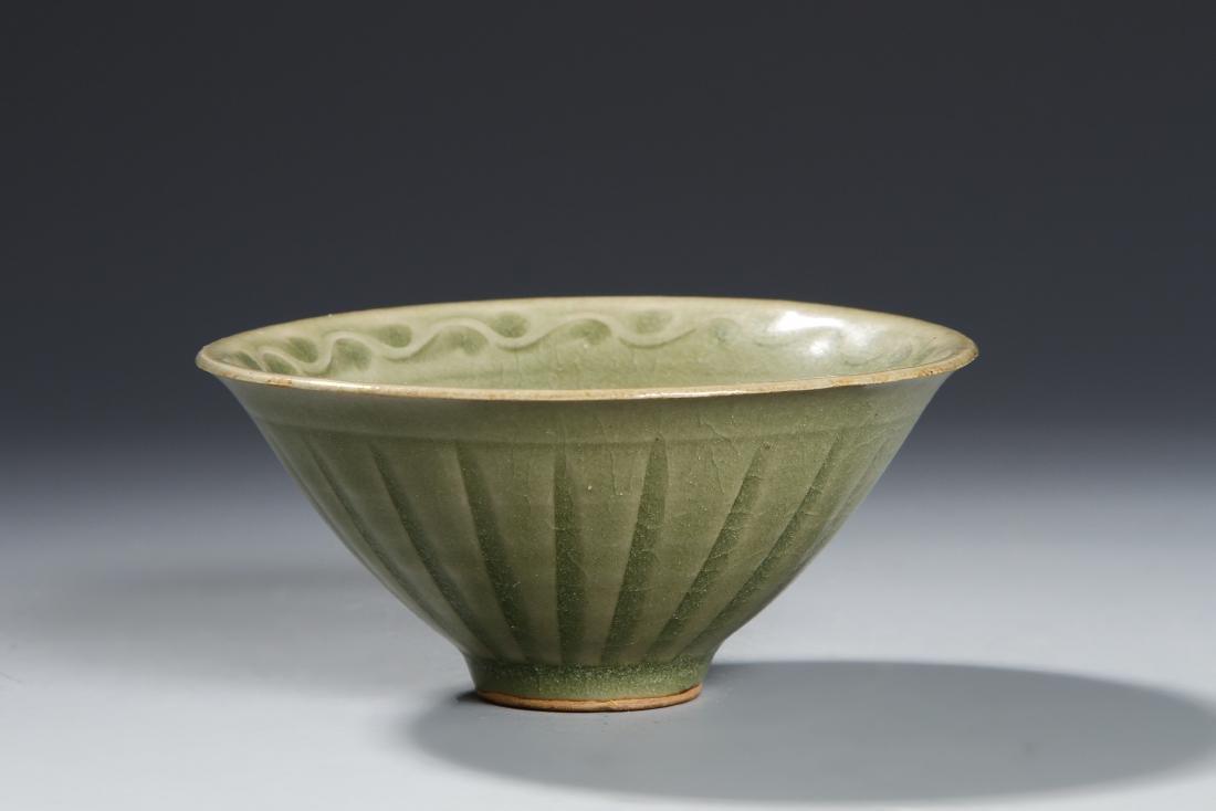 Chinese Longquan Yaozhou Type Lobed Bowl