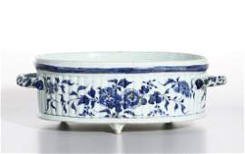 Chinese Kangxi Blue and White Oval Basin, Christie's