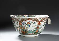 From Christie, Chinese Famille Verte Deep Bowl, Kangxi