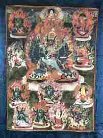 Tibetan Thangka Depicting Vajrabhairava