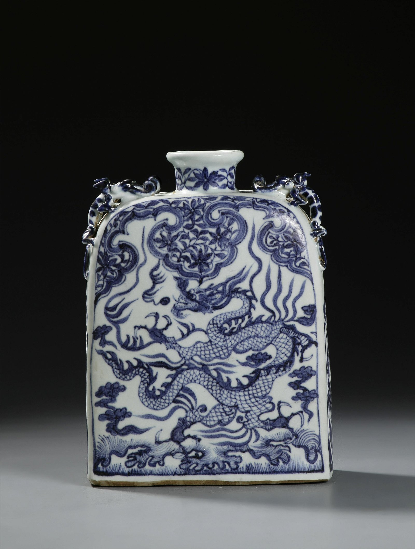 Rare Chinese Blue and White 'Pilgrim' Flask