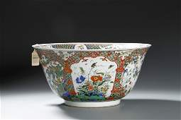 Christie's, Chinese Kangxi Famille Verte Deep Bowl