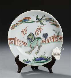 Christie's Kangxi Period Famille Verte Saucer Dish