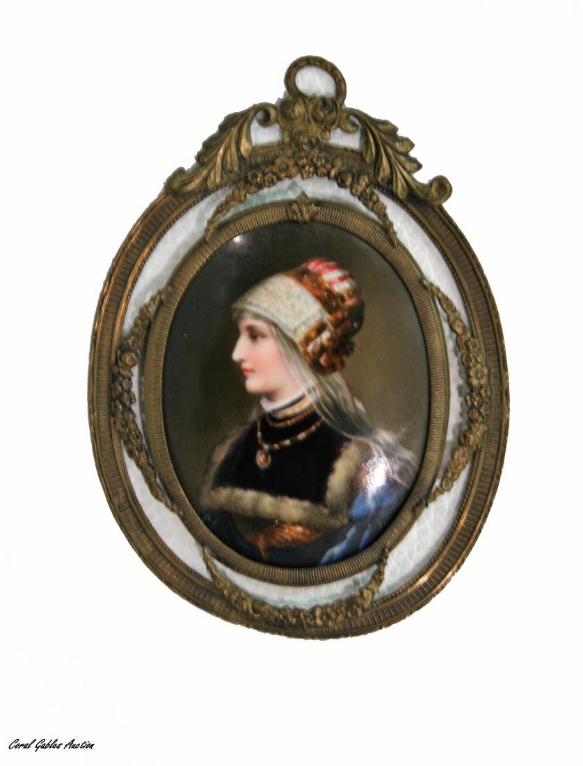 Antique European Porcelain Miniature.