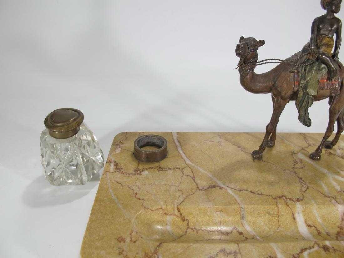 Antique Orientalist Vienna bronze & marble - 2