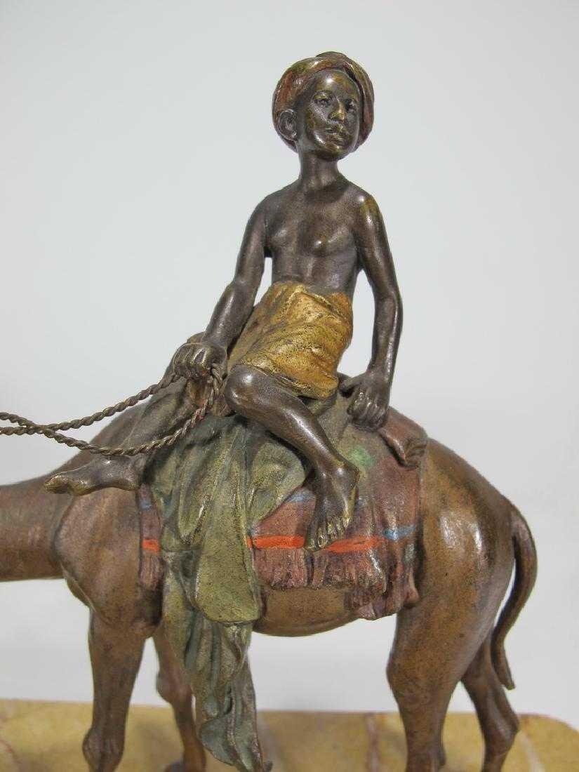 Antique Orientalist Vienna bronze & marble - 6