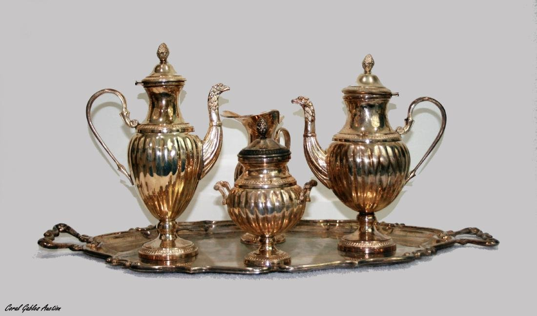A Baltimore sterling silver group of Five pieces of tea