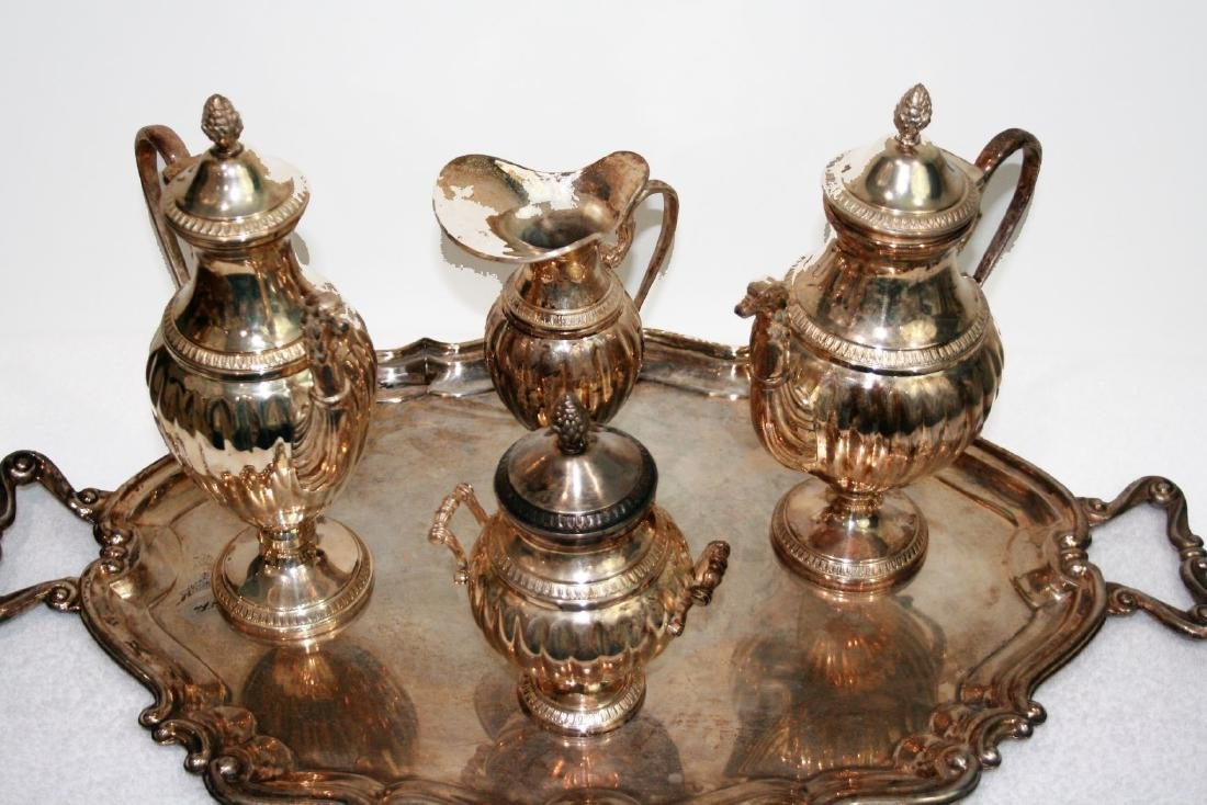 A Baltimore sterling silver group of Five pieces of tea - 2
