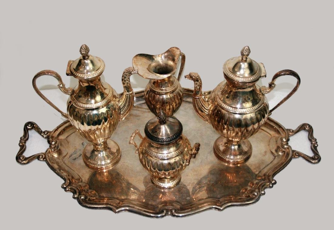 A Baltimore sterling silver group of Five pieces of tea - 3