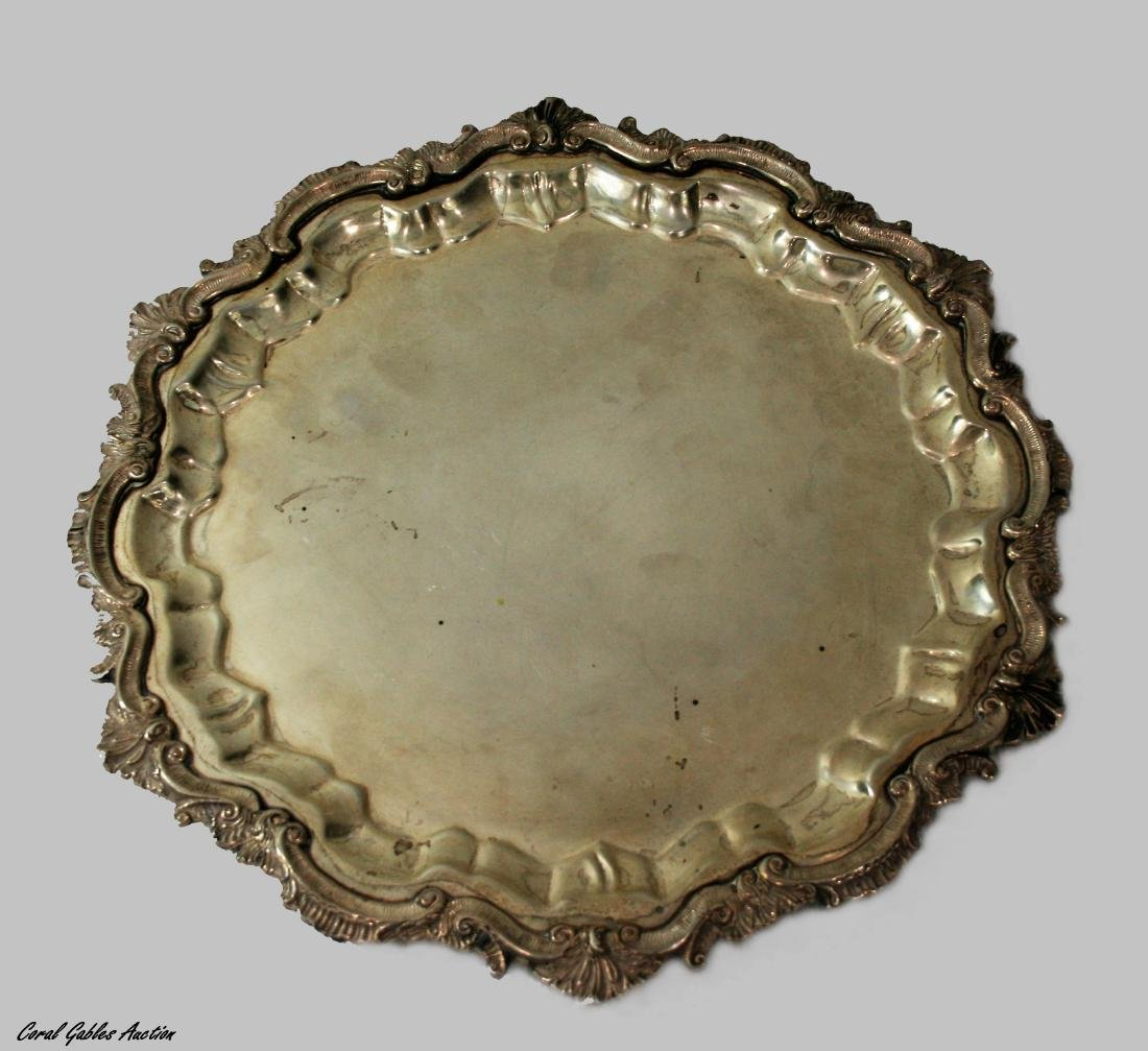 Serving tray camusso sterling silver Peruvian industry