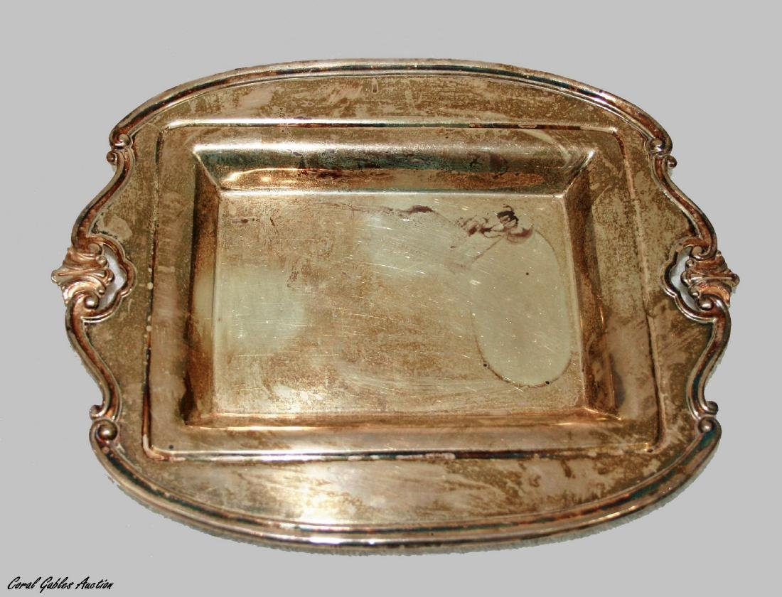 Sterling silver 925 service tray.