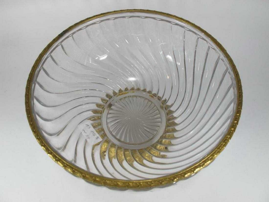 Antique French Baccarat bronze & glass bowl - 2