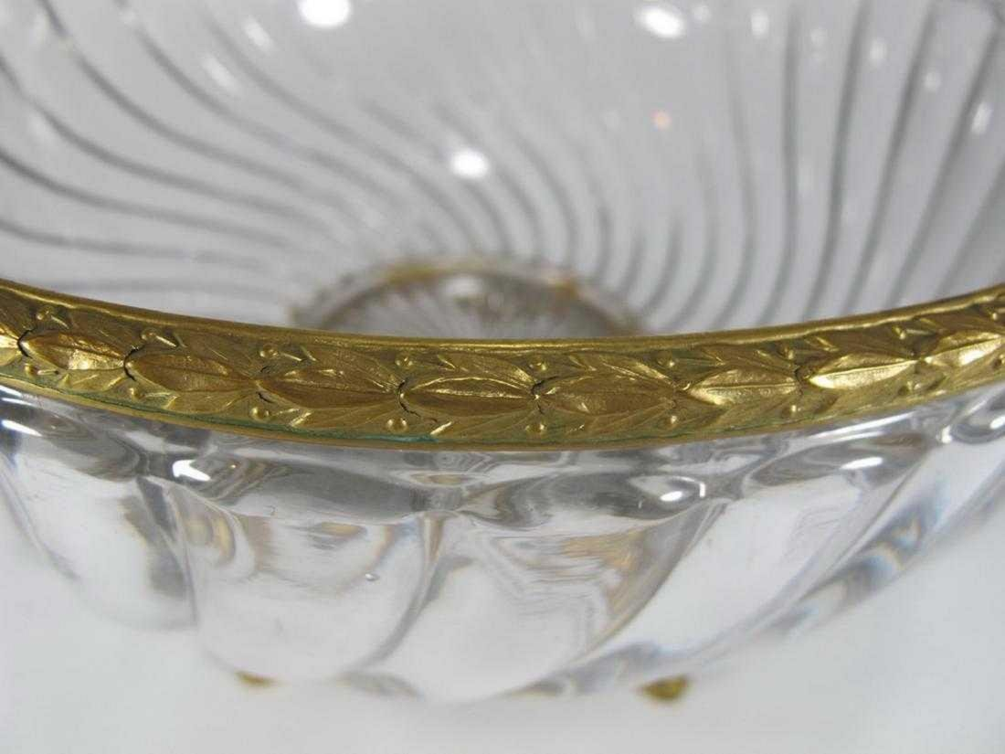 Antique French Baccarat bronze & glass bowl - 4
