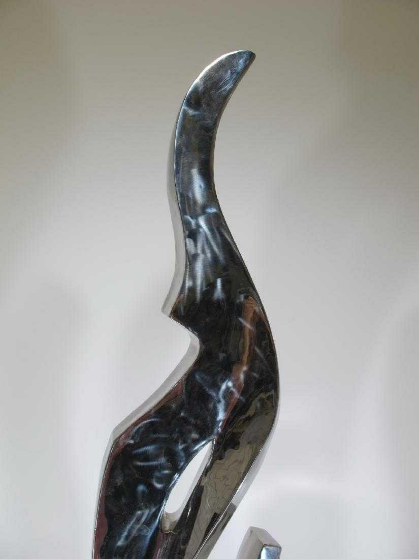 Probably silvered bronze modern abstract sculpture - 2