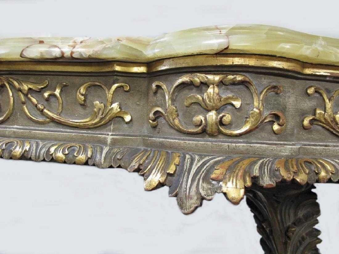 Antique French Louis XV style console table - 4
