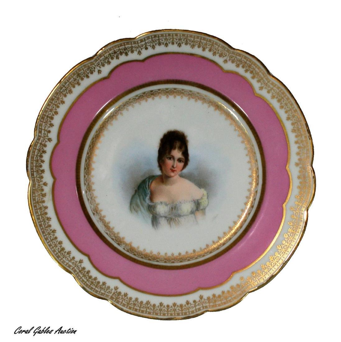 Sevre porcelain plate