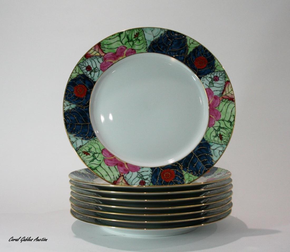 Set of porcelain plates