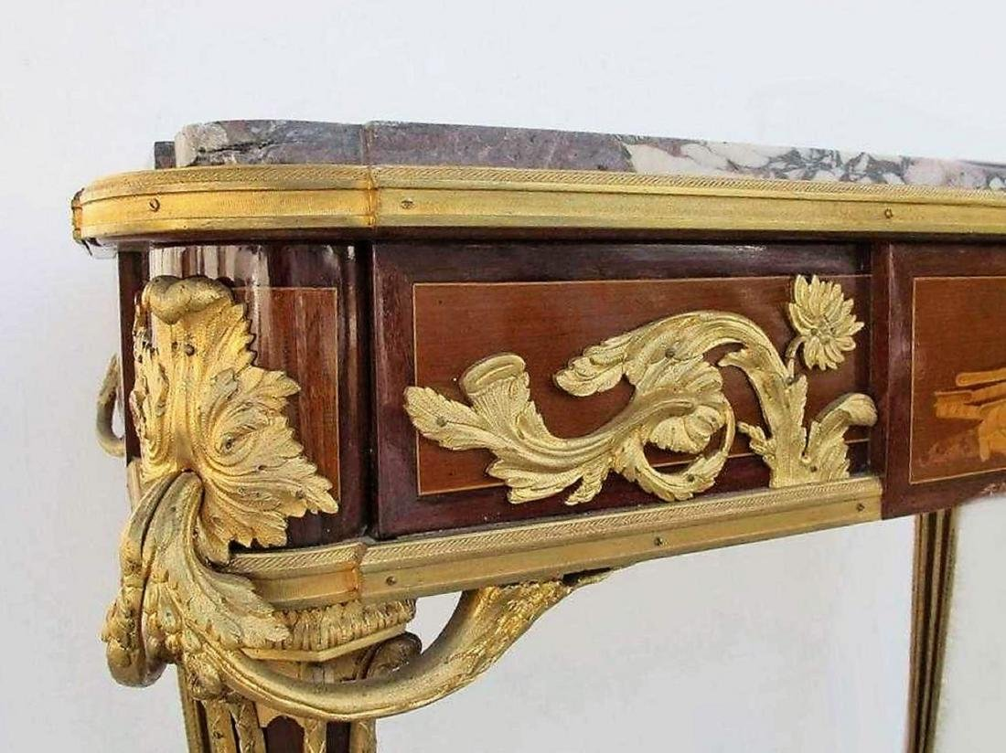 19th C French ormolu inlaid center table - 3