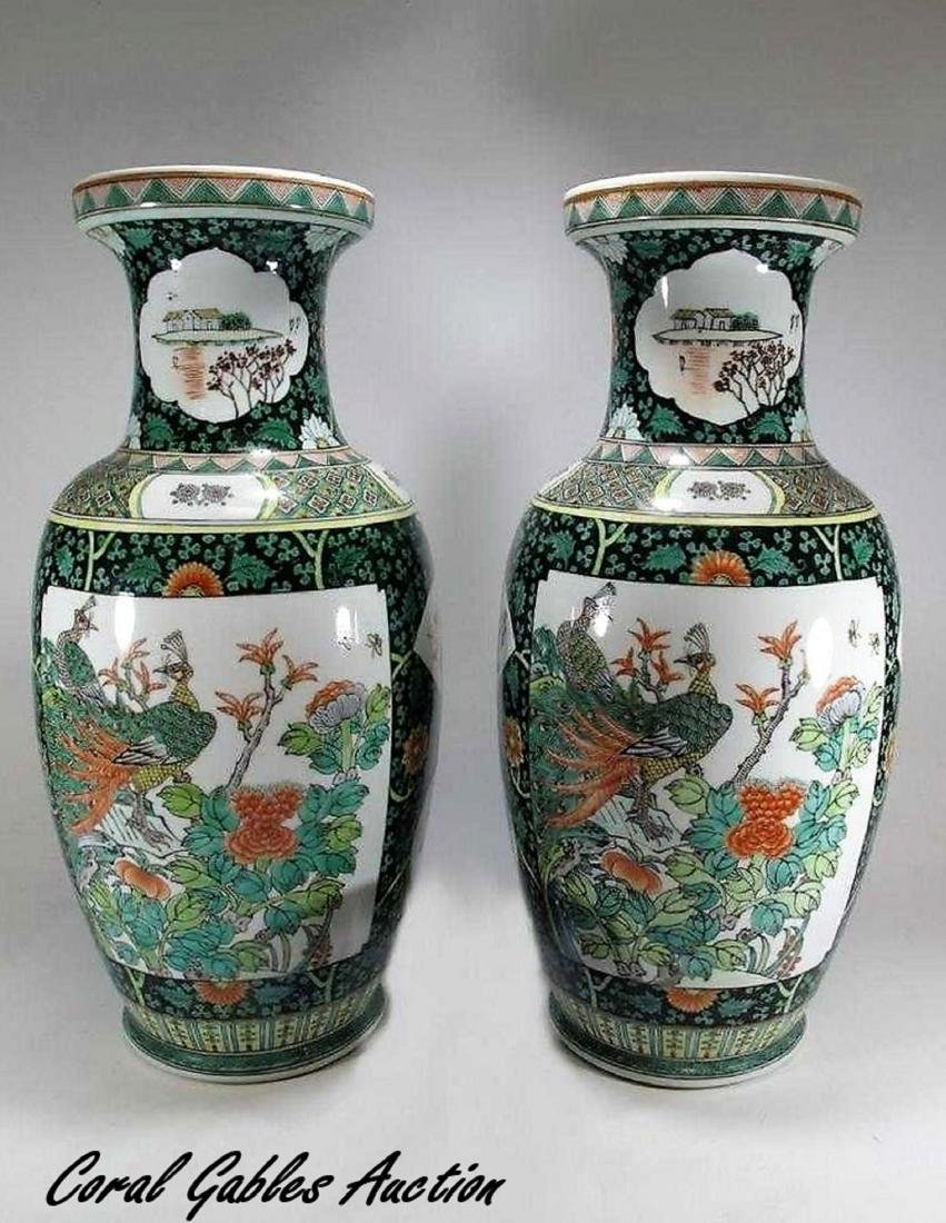 Great pair of Chinese porcelain vases