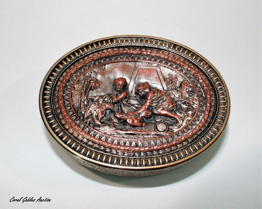 Antique French Bronze Trinket box Egyptian Revival