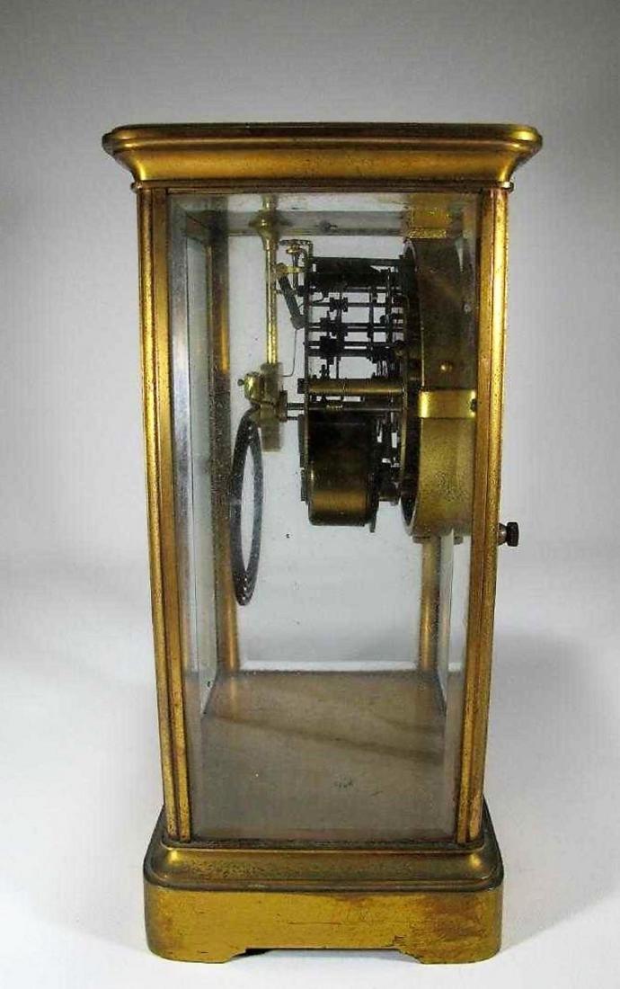 Antique  Thomas crystal regulator mantel clock - 2