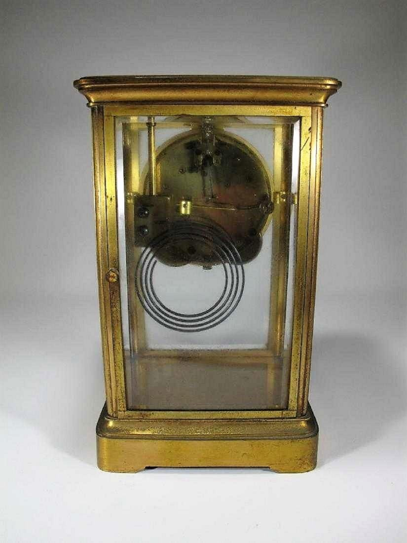 Antique  Thomas crystal regulator mantel clock - 3