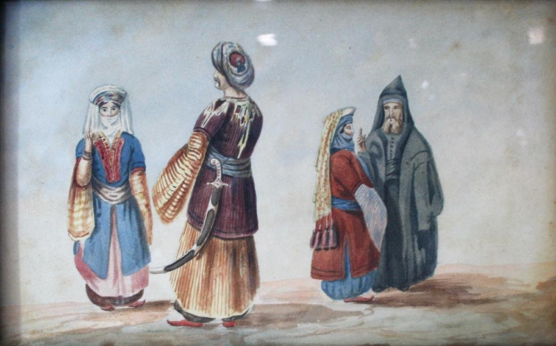 Watercolor 19th century. - 2