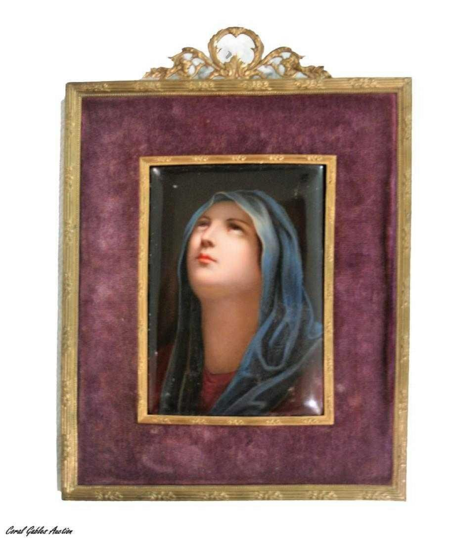 Antique European Porcelain Miniature Plaque