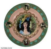 Royal Vienna Portrait Cabinet Plate Ladie by