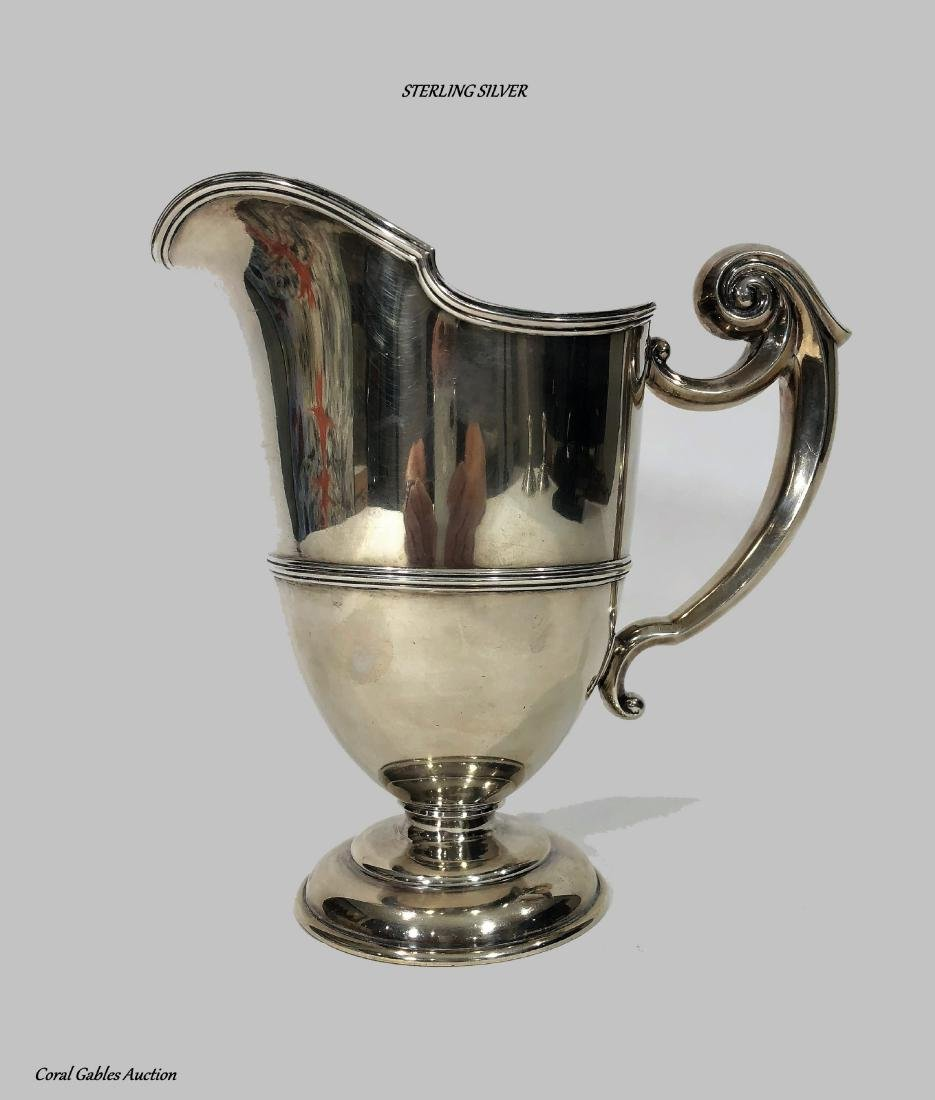 Rare 1900's J E Caldwell Sterling Silver Water Pitcher