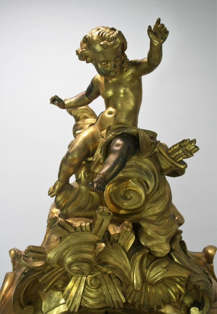 Very large A Louis XV style gilt bronze mantel clock 19 - 2