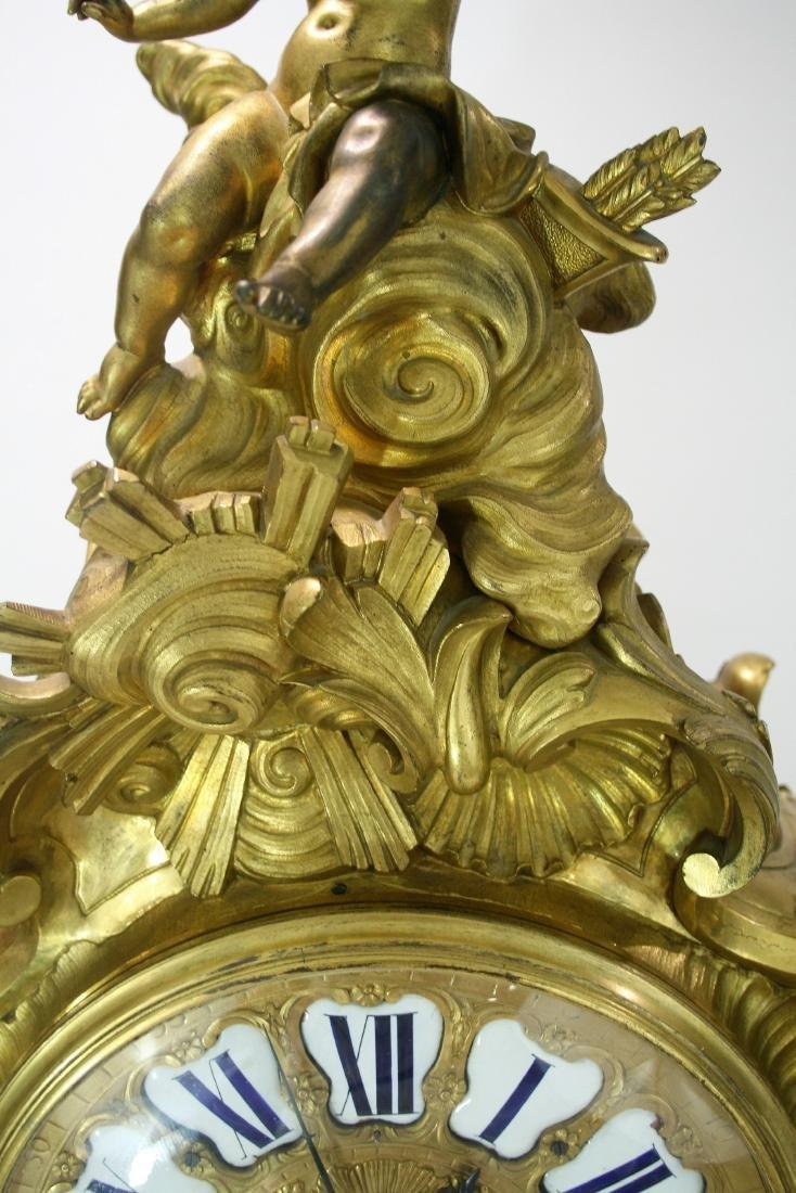 Very large A Louis XV style gilt bronze mantel clock 19 - 3
