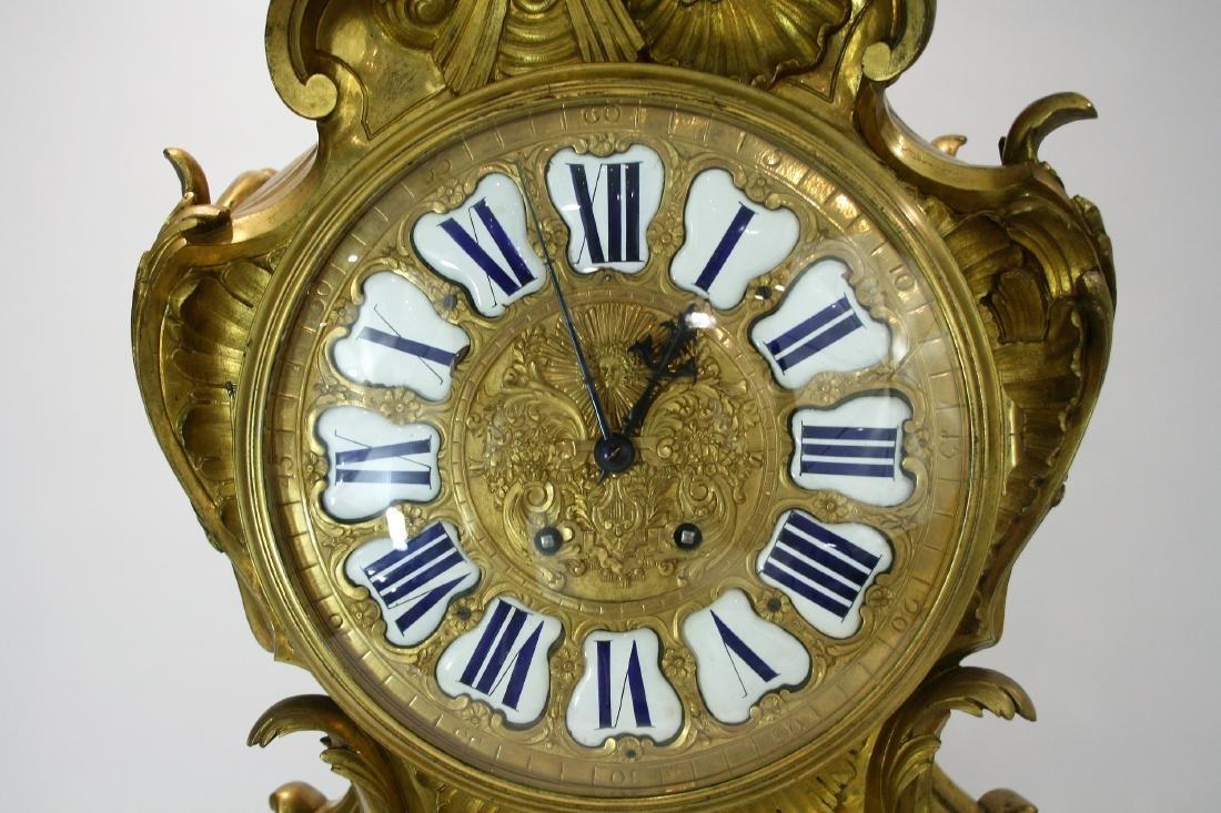 Very large A Louis XV style gilt bronze mantel clock 19 - 4