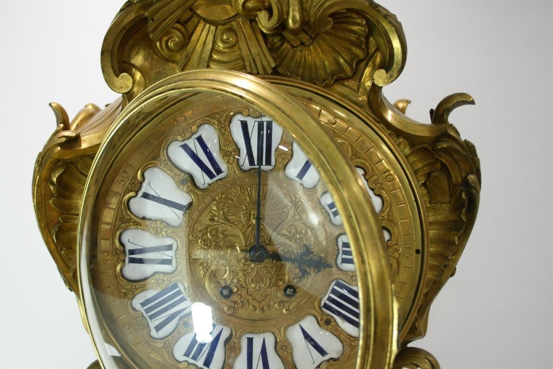 Very large A Louis XV style gilt bronze mantel clock 19 - 5