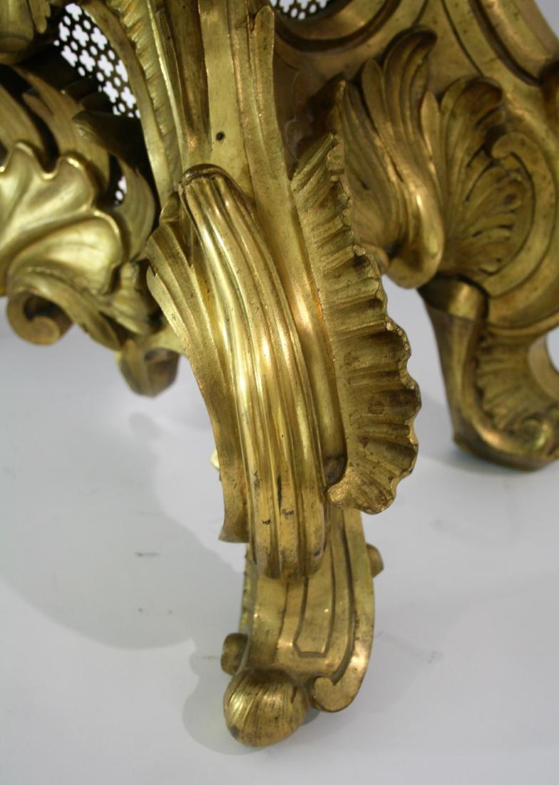 Very large A Louis XV style gilt bronze mantel clock 19 - 7