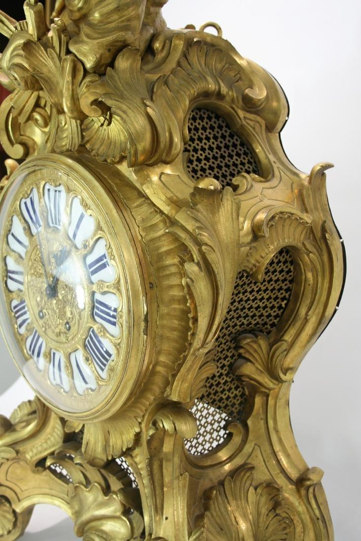 Very large A Louis XV style gilt bronze mantel clock 19 - 8