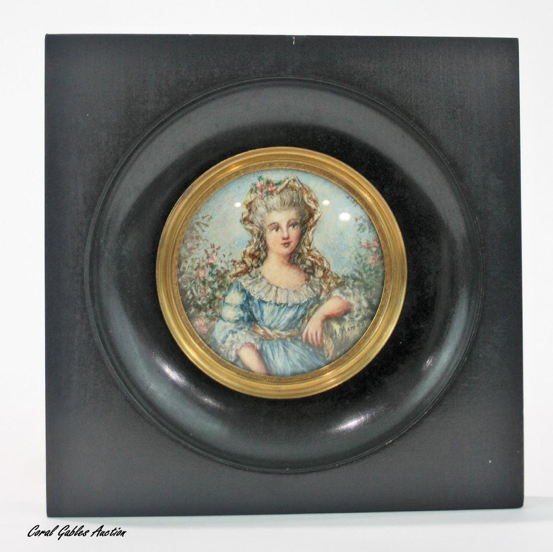 Miniature of the 19th or 20th century