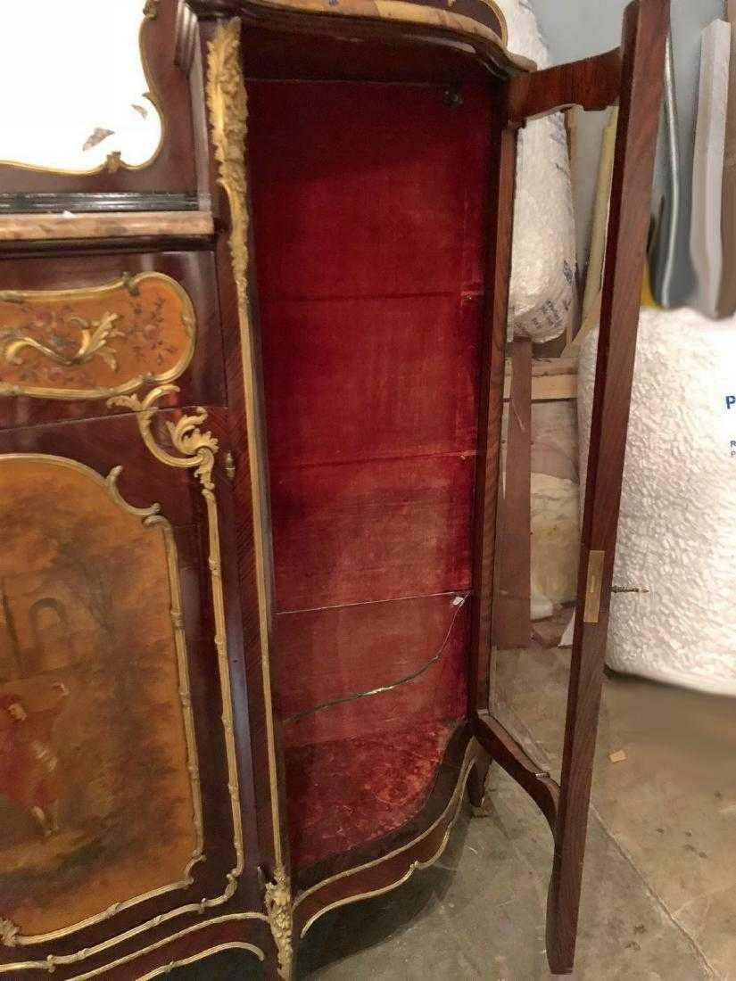 Antique French Louis XV style inlaid cabinet - 10