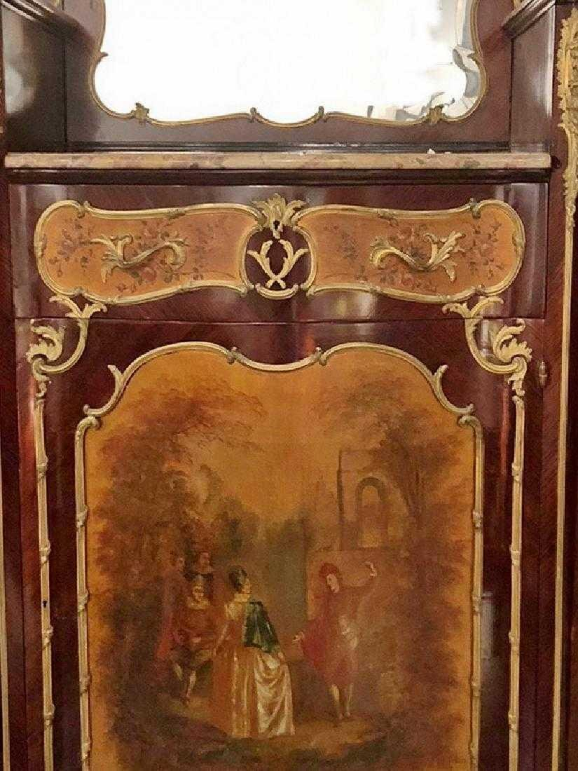 Antique French Louis XV style inlaid cabinet - 2